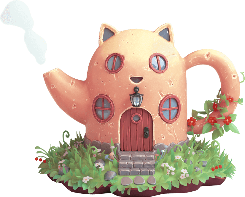 Teapot shaped like a house