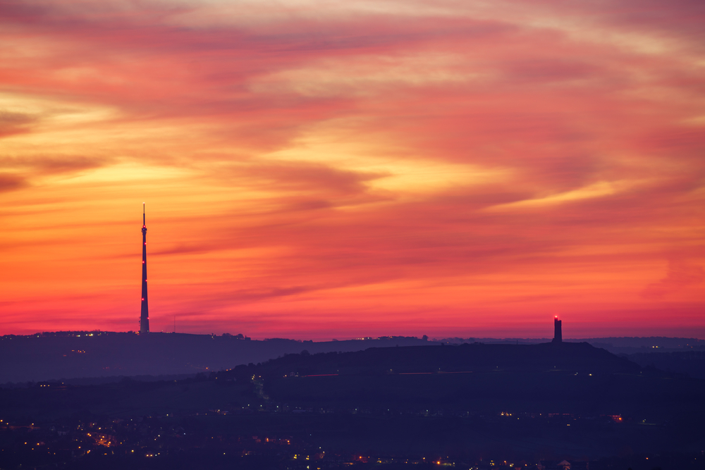 Sunrise over Huddersfield